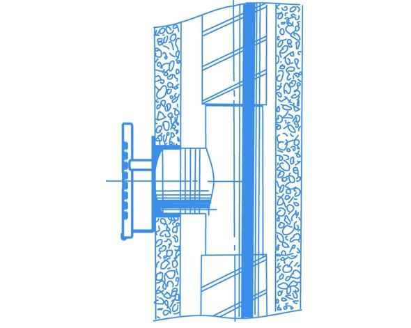 """""""Lux"""" ventiliatorių montavimo pavyzdis"""