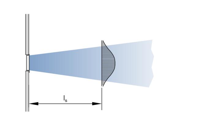 Oro srautas be vėsinimo efekto (vaizdas iš viršaus)