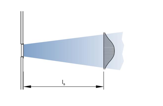 Oro išpūtimas palubėj (vaizdas iš viršaus)